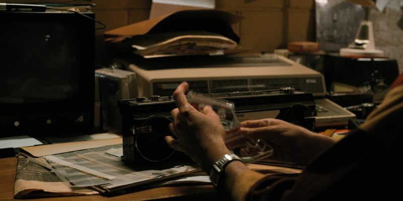 Sharp Cassette Player in Stranger Things: The Spy (2017) TV Show Product Placement