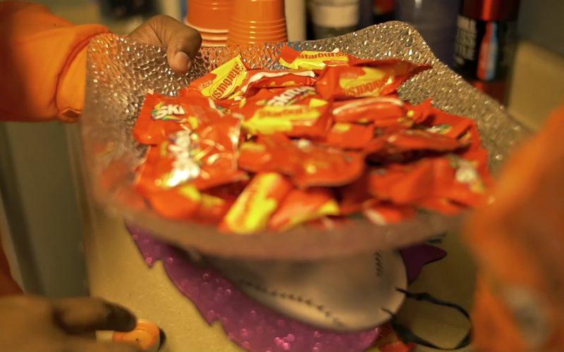 Skittles And Starburst Candies in Halloween by Kodak Black (2)
