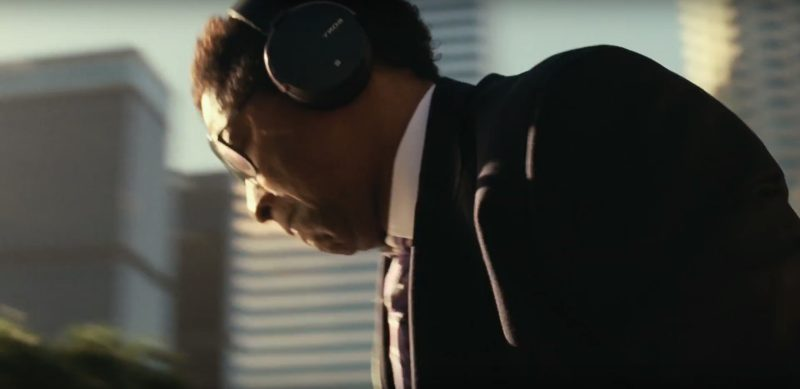 Sony Headphones Used by Denzel Washington in Roman J. Israel, Esq. (2017) Movie Product Placement