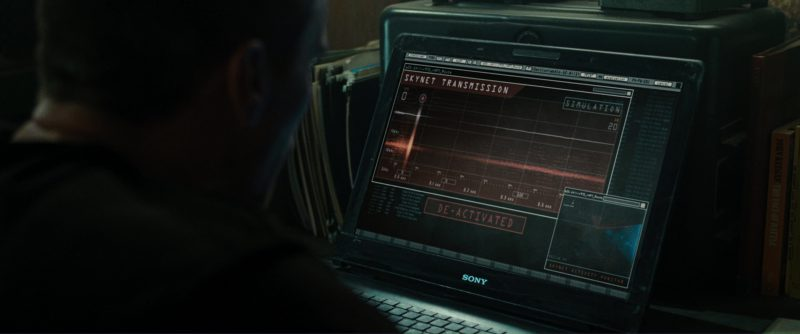 Sony Notebook Used by Christian Bale (John Connor) in Terminator Salvation (2009) - Movie Product Placement