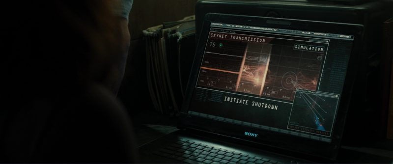 Sony Notebook Used by Christian Bale (John Connor) in Terminator Salvation (2009) Movie Product Placement