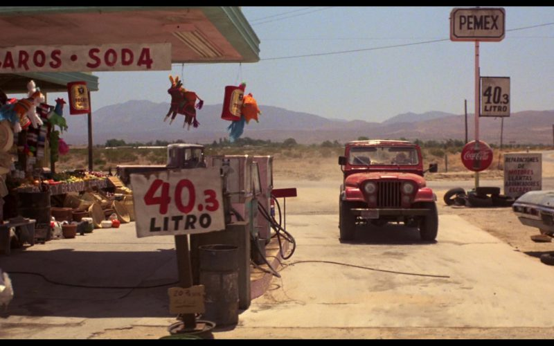 Tecate Beer and Coca-Cola Signs and Jeep CJ-7 SUV Used by Linda Hamilton in The Terminator (1)