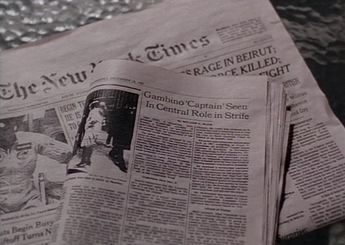 The New York Times Newspaper in Gotti (1996)