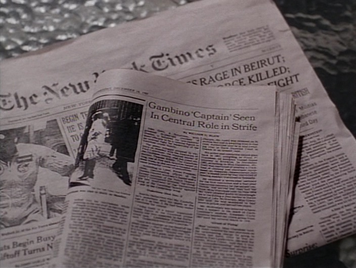 The New York Times Newspaper in Gotti (1996) Movie Product Placement