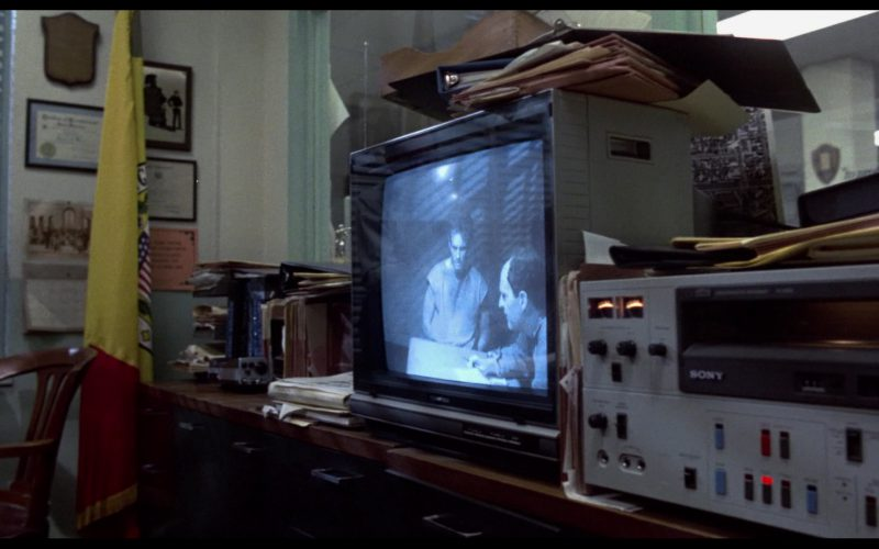 Toshiba TV and Sony Video Tape Recorder in The Terminator (1)