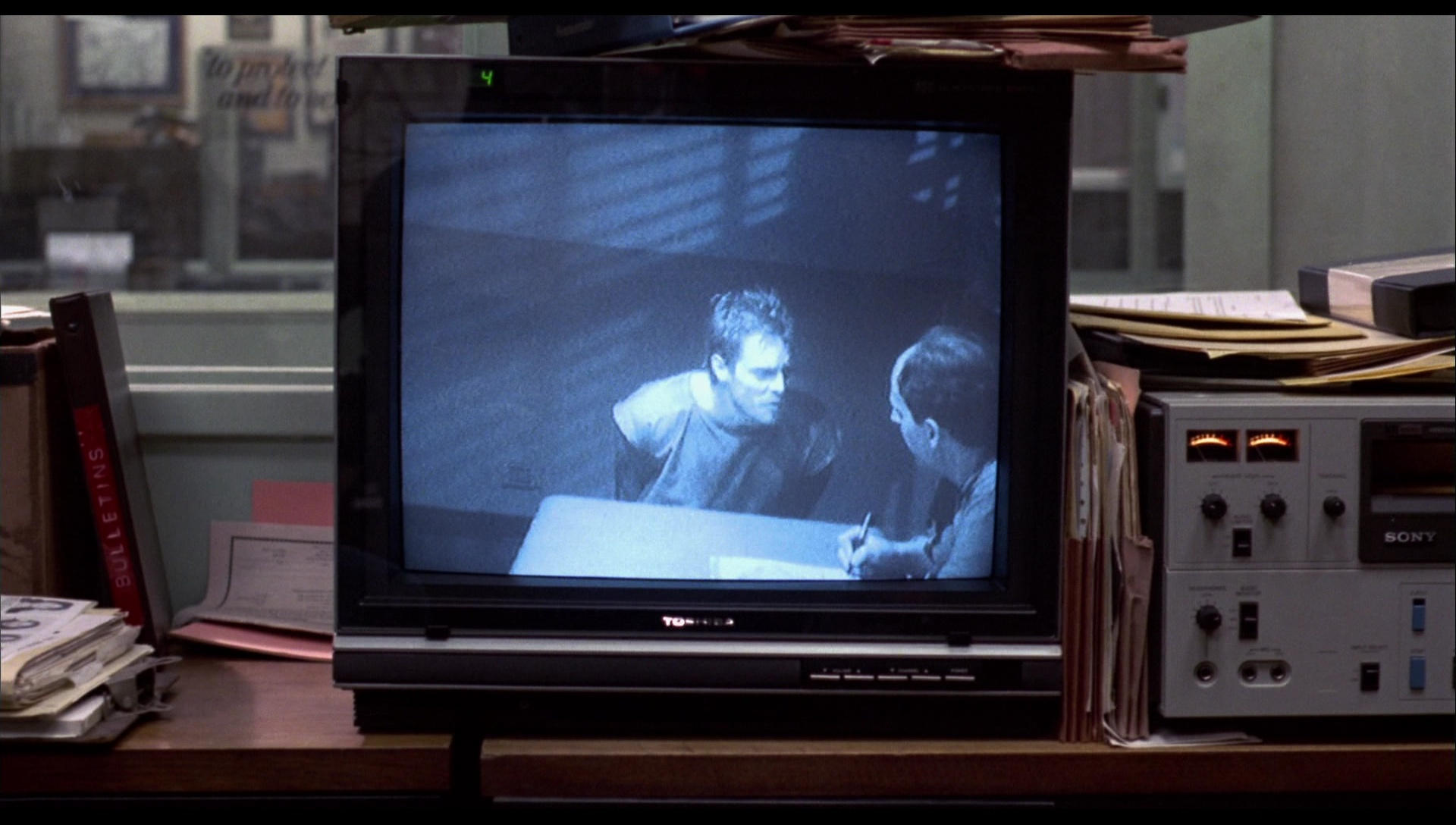 Toshiba TV and Sony Video Tape Recorder in The Terminator (1984) Movie