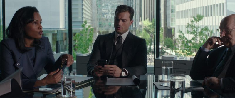 Vertu Signature Touch and Omega Watch Used by James Dornan (Christian Grey) in Fifty Shades Darker (2017) Movie Product Placement