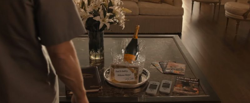 Veuve Clicquot Ponsardin champagne in Downsizing (2017) - Movie Product Placement