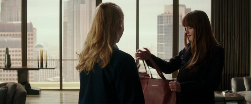 Want Les Essentiels Logan Tote (Handbag) Used by Dakota Johnson (Anastasia Steele) in Fifty Shades Darker (2017) Movie Product Placement
