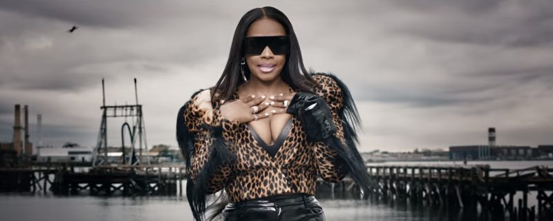 YSL Sunglasses, Victoria's Secret Bra, Balmain Earrings And Ronald van der Kemp Leopard Print Jacket Worn by Remy Ma in Wake Me Up (2017) Official Music Video Product Placement