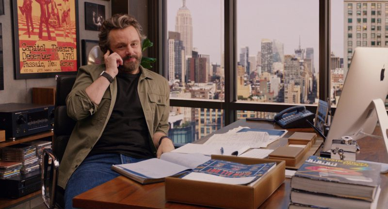 Apple iMac Computer Used by Michael Sheen in Home Again (2017) Movie Product Placement