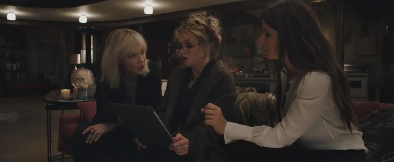 Apple iPad Pro 12.9-inch Tablet Used by Helena Bonham Carter in Ocean's 8 (2018) Movie Product Placement