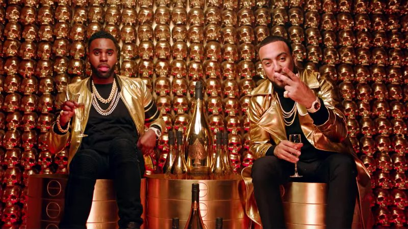 Armand de Brignac Brut Gold Champagne in Tip Toe by Jason Derulo ft. French Montana (2017) Official Music Video Product Placement