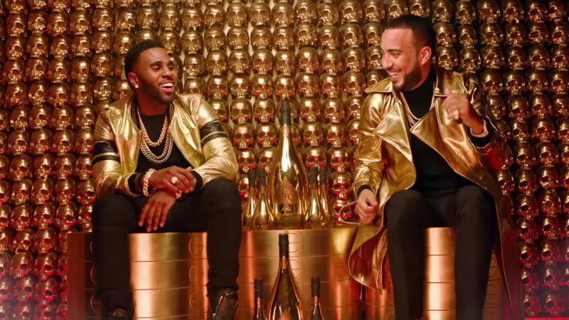 Armand de Brignac Brut Gold Champagne in Tip Toe by Jason Derulo ft. French Montana (2017) - Official Music Video Product Placement