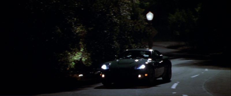 Aston Martin Vanquish Green Sports Car Used by Edward Norton in The Italian Job (2003) Movie Product Placement