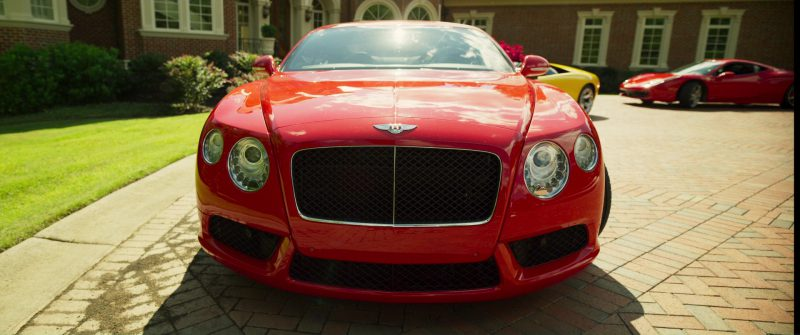 Bentley Continental GT Red Car in Logan Lucky (2017) Movie Product Placement