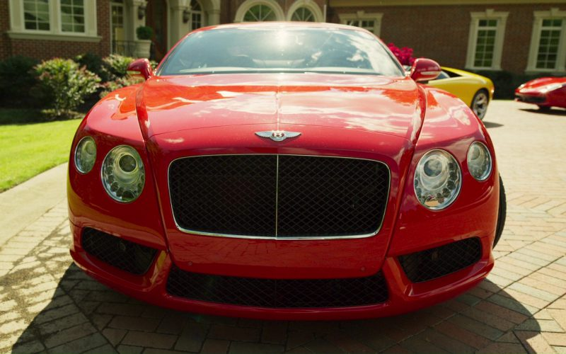 Bentley Continental GT Red Car in Logan Lucky