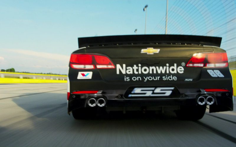 Chevrolet Car And Nationwide Sticker in Logan Lucky