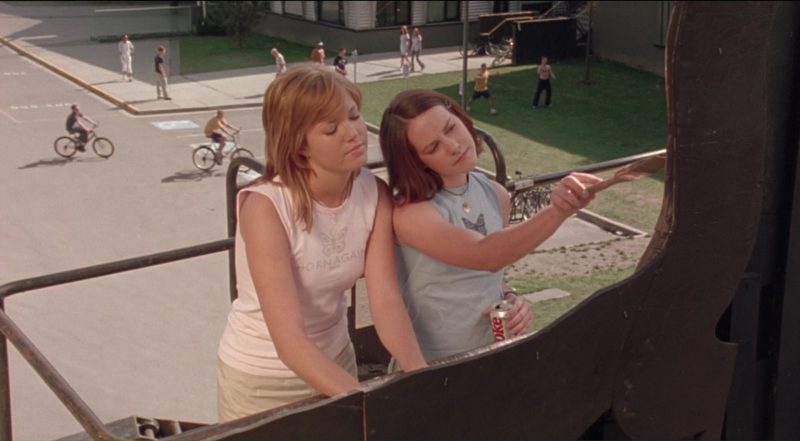 Diet Coke Drink by Jena Malone in Saved! (2004) Movie Product Placement