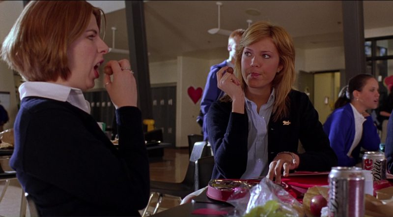 Diet Coke Drink by Mandy Moore and Heather Matarazzo in Saved! (2004) - Movie Product Placement