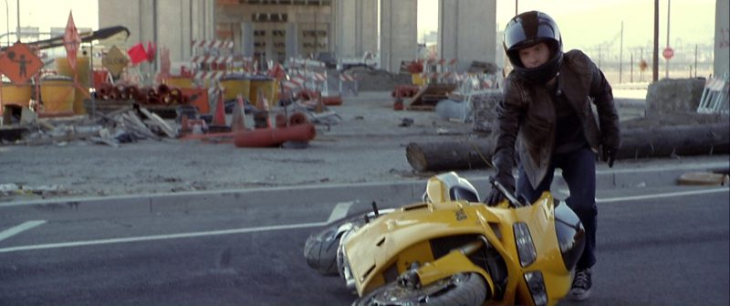 Ducati 748 Yellow Motorcycle Used by Seth Green in The Italian Job (2003) - Movie Product Placement
