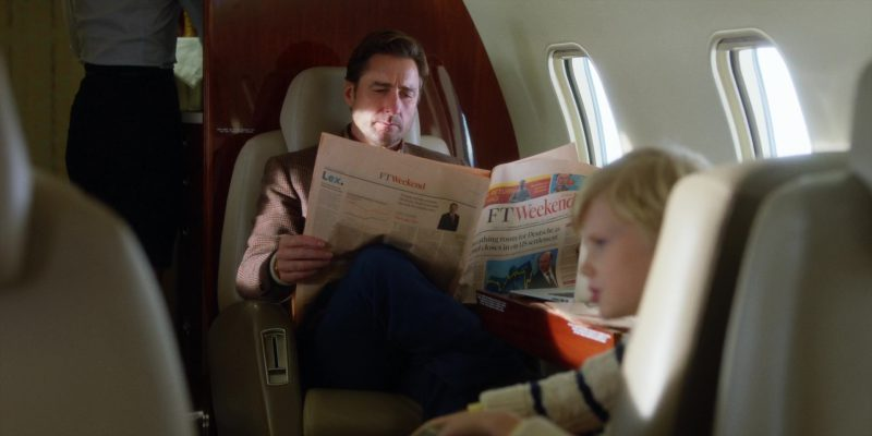 FT Weekend Magazine (Financial Times) and Luke Wilson in Brad's Status (2017) Movie Product Placement