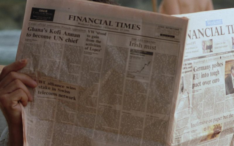 Financial Times Newspaper in The Lost World Jurassic Park