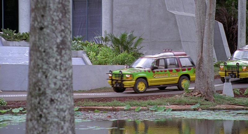 Ford Explorer Cars In Jurassic Park X