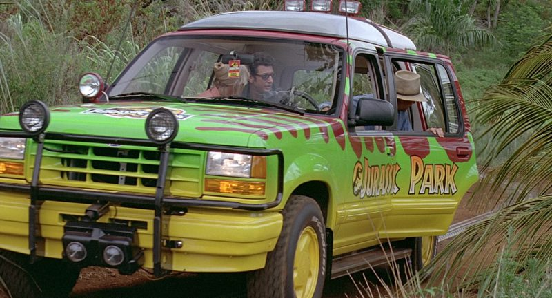 Ford Explorer Cars In Jurassic Park 1993 Movie