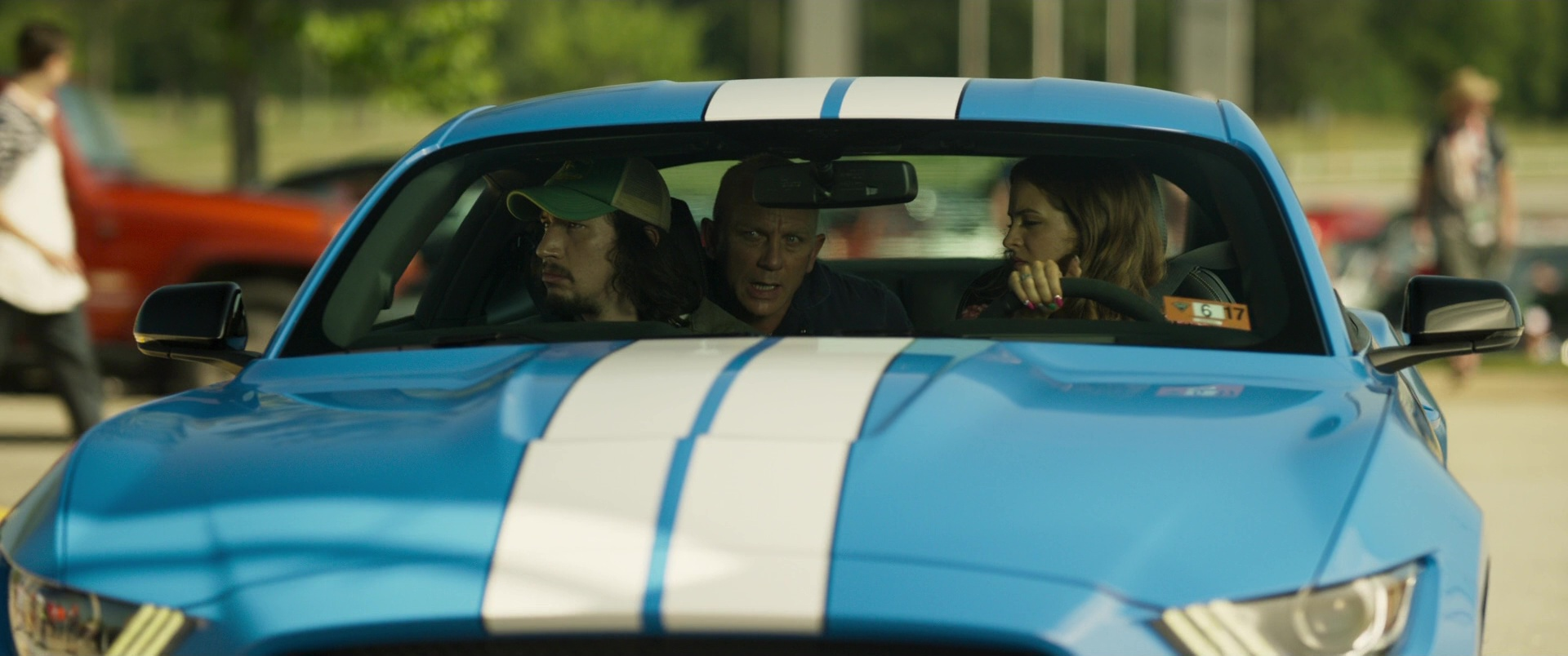 Ford Mustang Shelby GT350 Blue Sports Car Driven by Riley ...