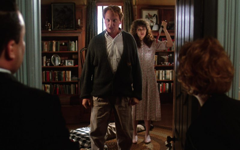Giorgio Armani Green Cardigan Worn by Jeffrey Jones in Beetlejuice (1)