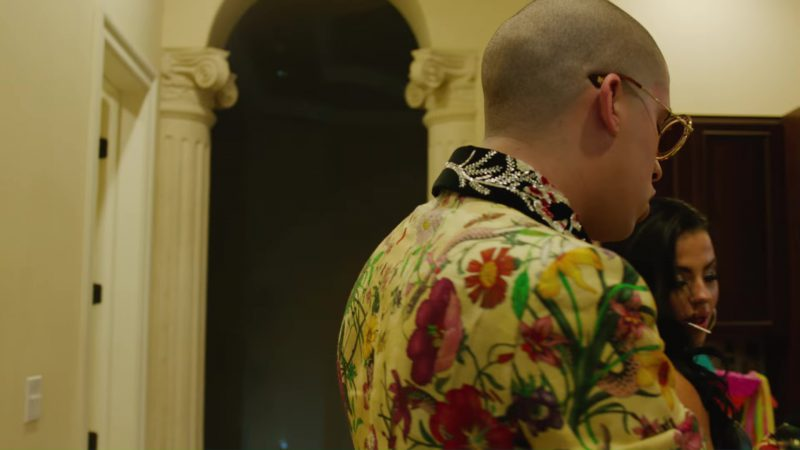 Gucci Sunglasses Worn by Bad Bunny in Chambea (2017) Official Music Video Product Placement