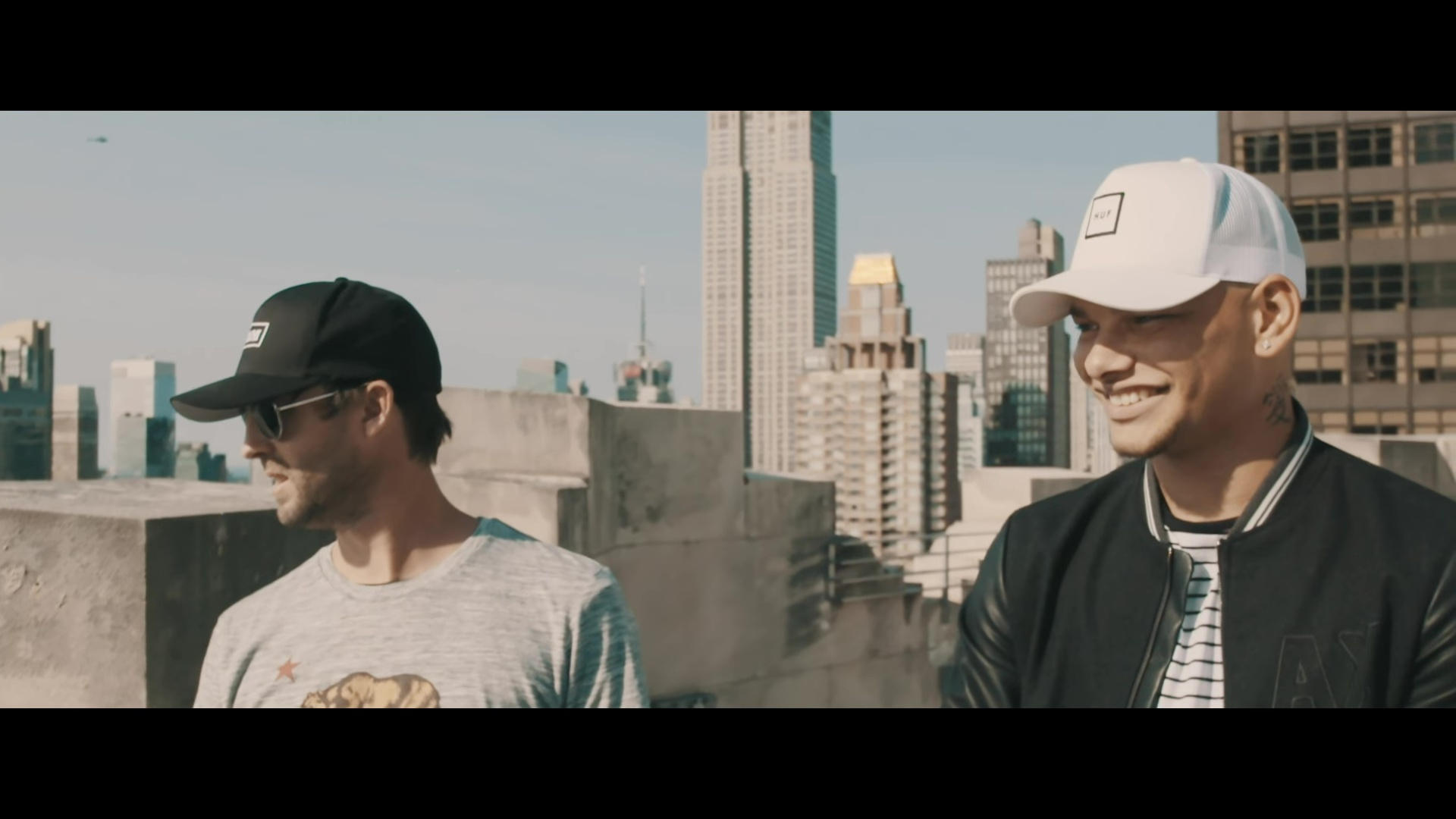 Huf White Hat Cap Worn By Kane Brown In Found You 2017