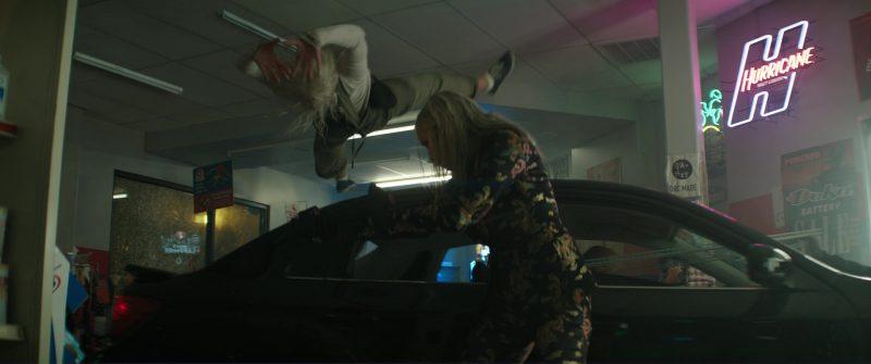 Hurricane Malt Liquor Neon Sign in Bright (2017) Movie Product Placement