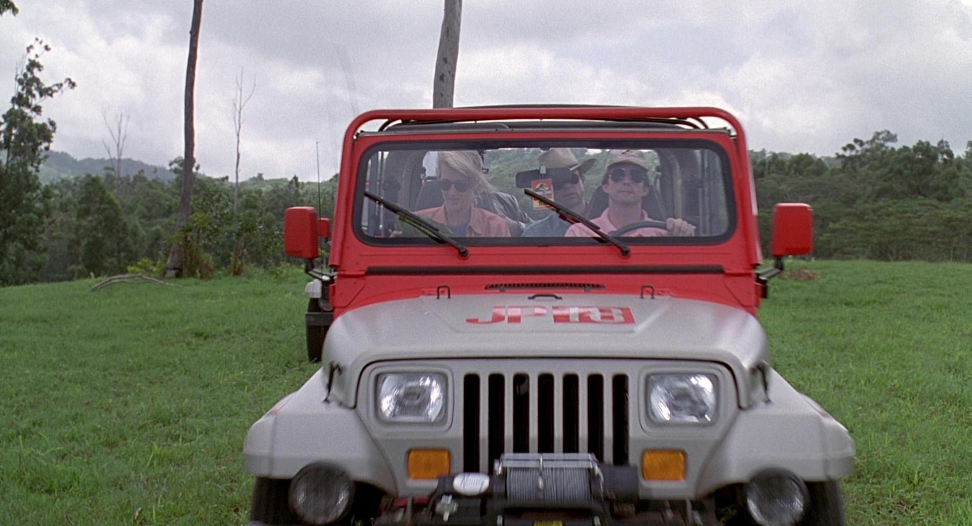 Jeep Wrangler Cars in Jurassic Park (1993) Movie