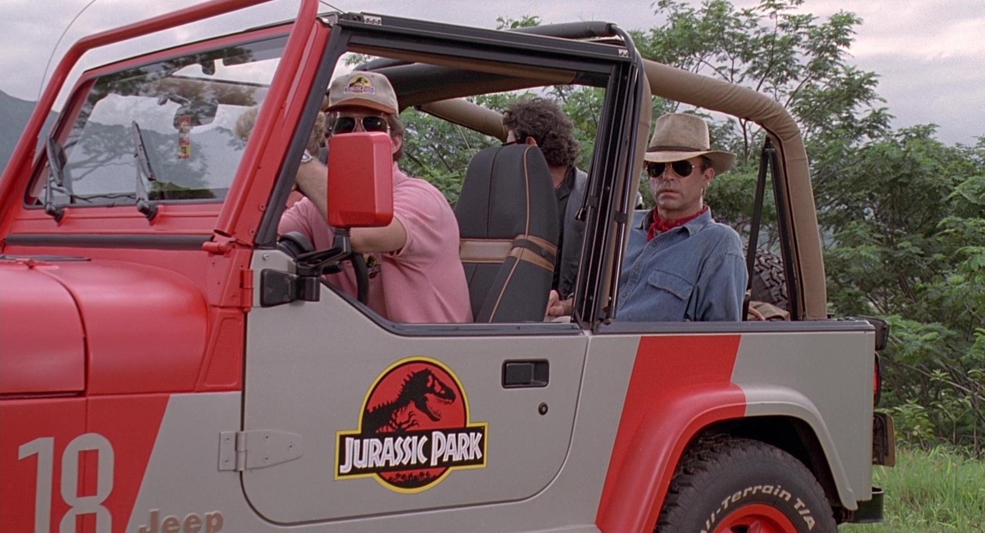 Jeep Wrangler Cars In Jurassic Park 1993 Movie Scenes