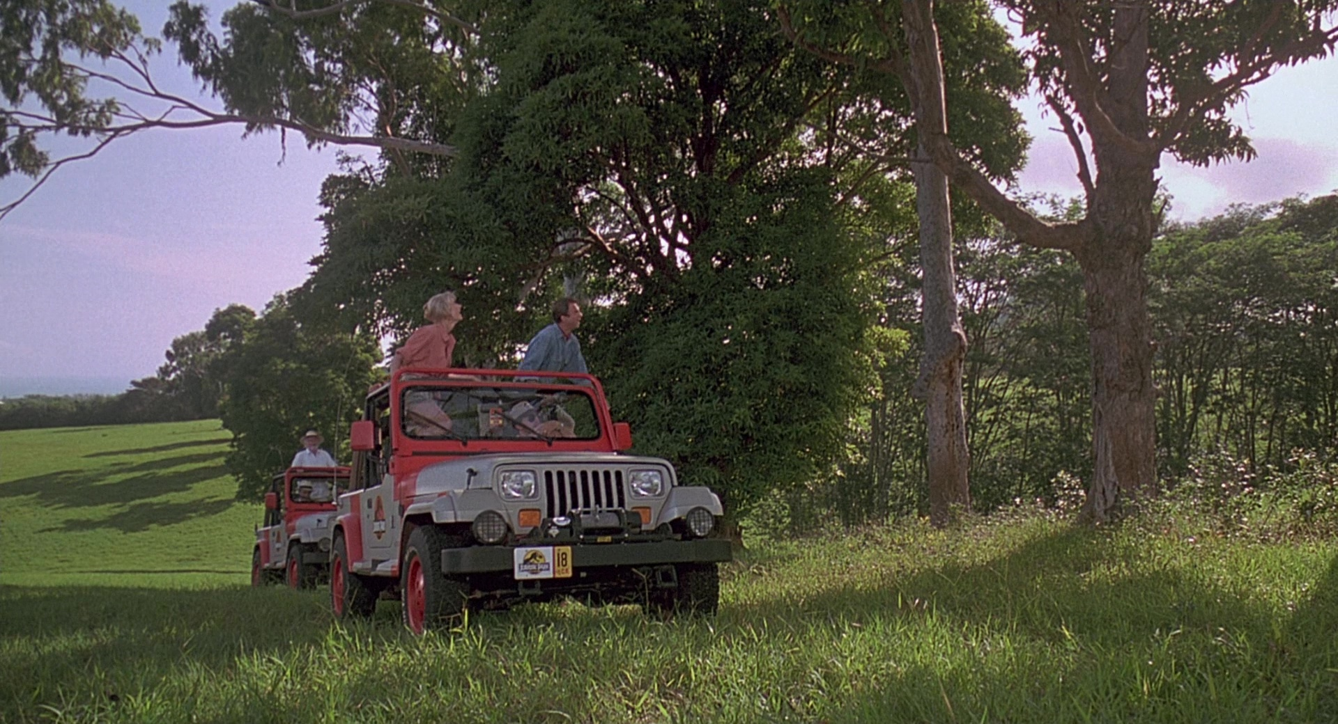 Jeep Wrangler Cars In Jurassic Park