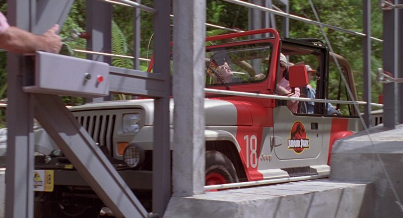 Jeep Wrangler Cars In Jurassic Park 1993 Movie