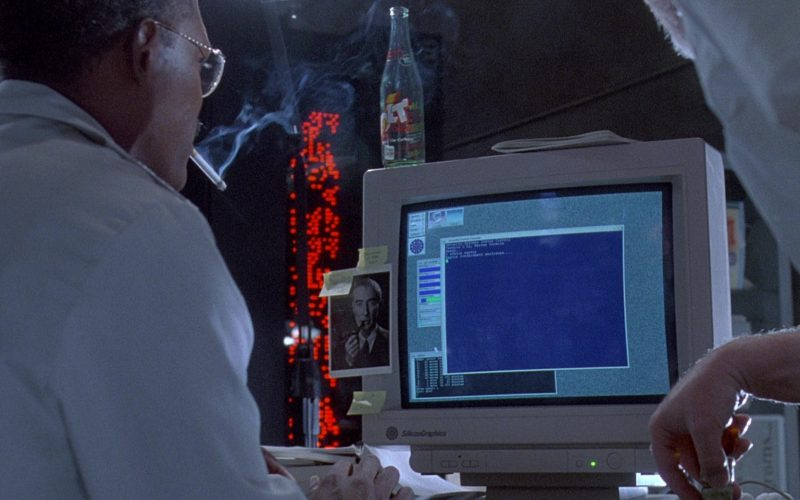 Jolt Cola and Silicon Graphics Monitor in Jurassic Park (1)