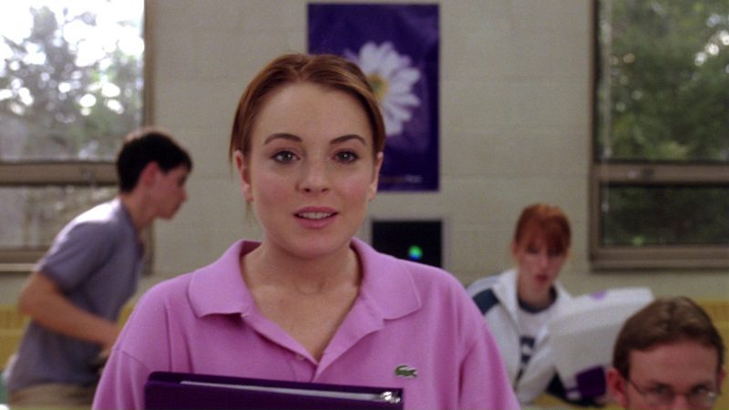 Lacoste Pink Polo Shirt Worn by Lindsay Lohan in Mean Girls (2004) Movie Product Placement