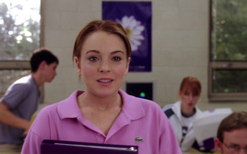 Lacoste Pink Polo Shirt Worn by Lindsay Lohan in Mean Girls (1)
