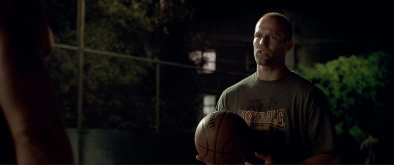 Lonsdale T-Shirt Worn by Jason Statham in The Italian Job (2003) Movie Product Placement