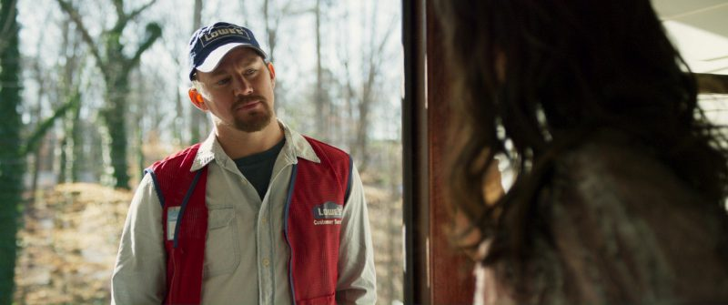 Lowe's Work Clothing and Cap Worn by Channing Tatum in Logan Lucky (2017) - Movie Product Placement