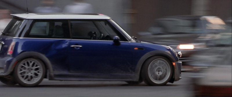 MINI Cooper S Blue Car Used by Mark Wahlberg in The Italian Job (2003) - Movie Product Placement