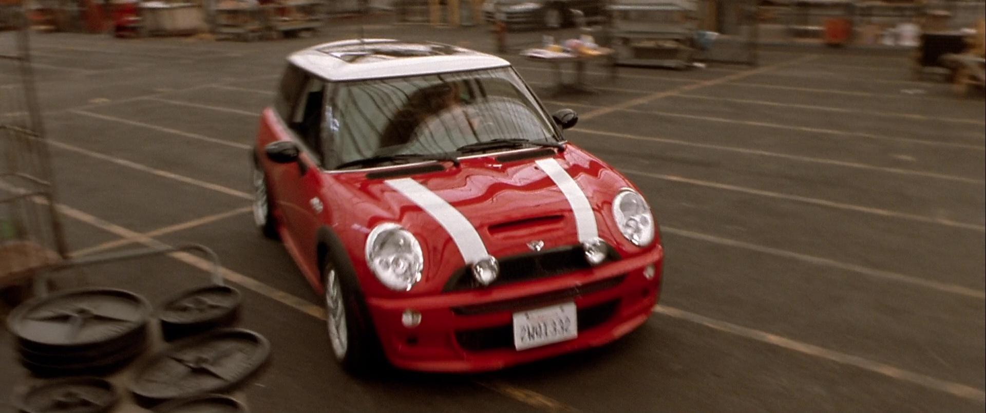 Mini Cooper S Red Car Used By Charlize Theron In The Italian Job