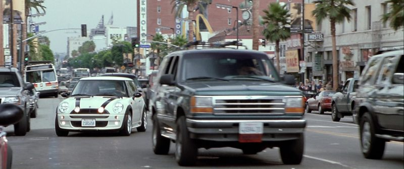 MINI Cooper S White Car Used by Jason Statham in The Italian Job (2003) Movie Product Placement