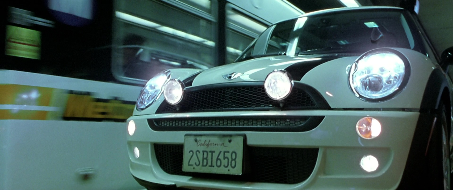 Mini Cooper S White Car Used By Jason Statham In The Italian Job