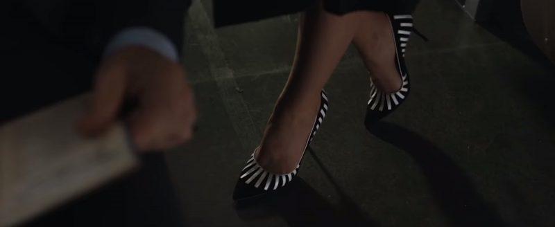 Manolo Blahnik Pumps (Black & White Shoes) Worn by Vera Farmiga in The Commuter (2018) Movie
