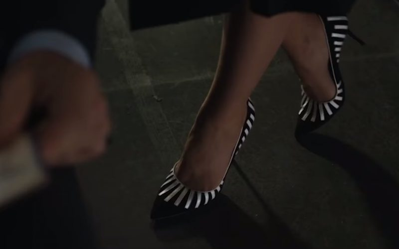 Manolo Blahnik Pontanus Piano Suede Pump (Shoes) Worn by Vera Farmiga in The Commuter (1)