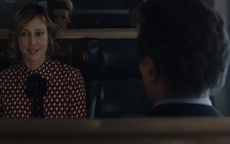 Marc Jacobs Crêpe De Chine Bow Shirt Worn by Vera Farmiga in The Commuter (1)